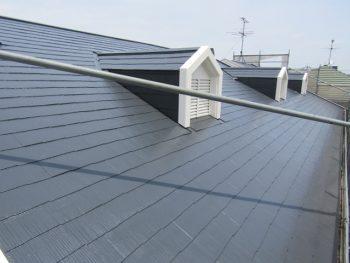 フッ素で塗装した屋根の完成