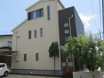 倉敷市で外壁と屋根塗装 無機塗料で長持ち、意匠性高い石調模様に!
