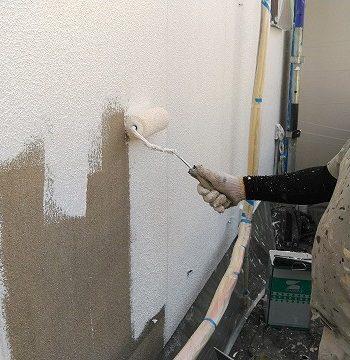 外壁の塗装 山上げ