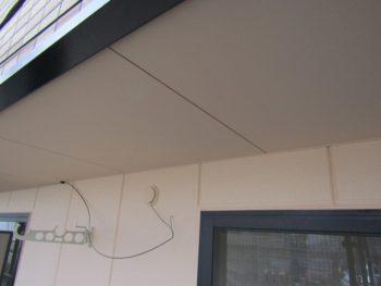 バルコニーの天井完成