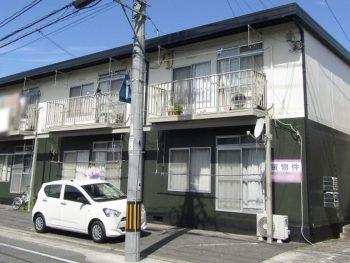 倉敷市でアパートの外壁と屋根の塗装!錆を落としてキレイに!