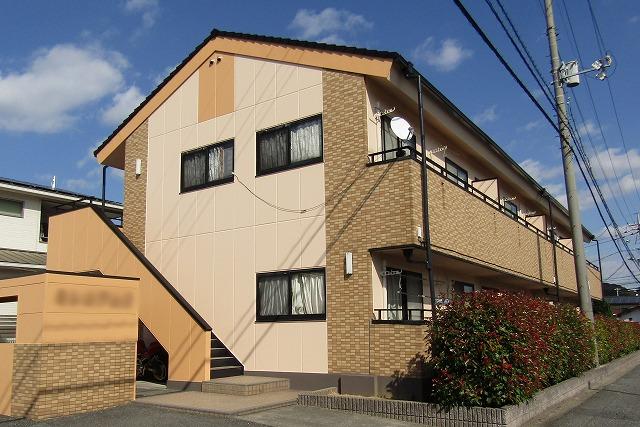 倉敷市のアパート塗装 屋根はモニエル瓦外壁はALCを塗り替え!