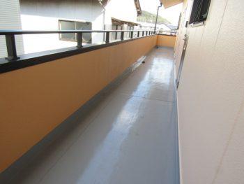 2階共有廊下ウレタン防水完成
