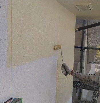 下塗り厚膜をつける