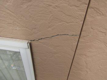 サイディング外壁のひび割れ