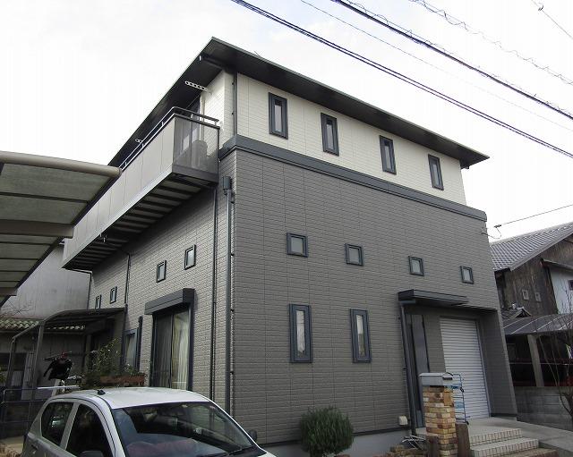 倉敷市で外壁をお得なアウトレットで塗装!屋根は無機塗料で!