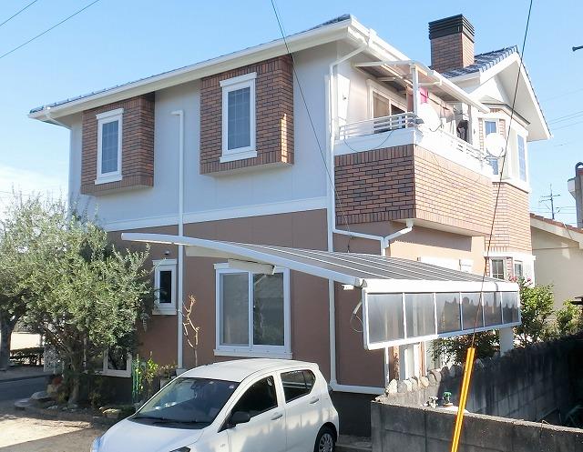 倉敷市 外壁を長持ち無機塗料で塗替え!厚膜塗装でさらに強く!