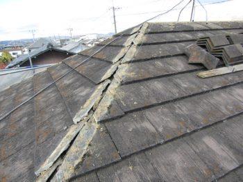 屋根の漆喰修繕
