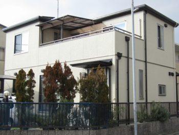倉敷市 外壁を無機塗料で塗装!一部バイオ洗浄でカビを落とす!