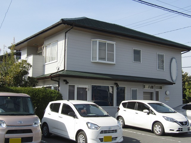 倉敷市で店舗の外壁塗装と屋根は修繕と無機塗料で塗り替え!