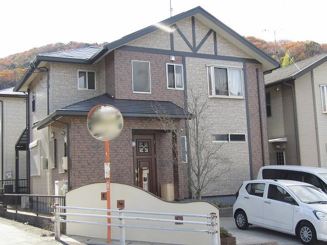 岡山市 外壁はクリアーフッ素塗装!シーリングは高耐久で施工!
