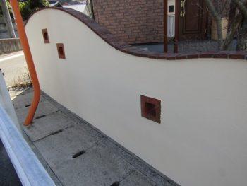 塀の塗装完成