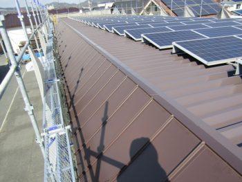 ガルバリウム鋼板カバー工法工事の完成