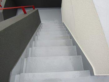 階段防水工事完成