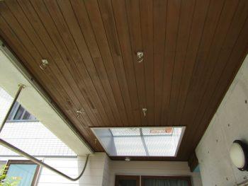 車庫天井の塗装完成