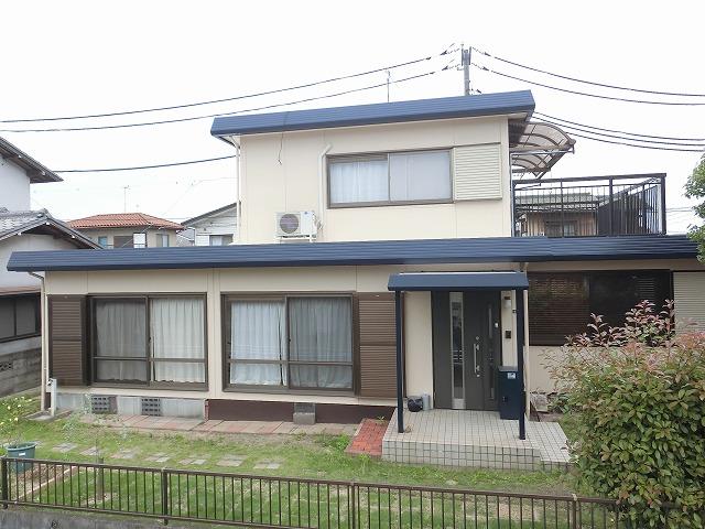 倉敷市で折半屋根と外壁の塗装 アウトレットプランで!
