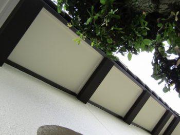 軒天と母屋木の施工完成