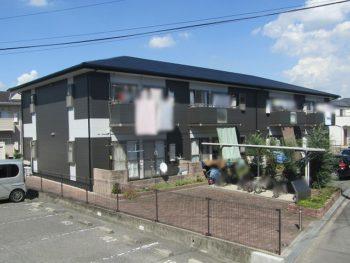 岡山市中区 アパート屋根外壁塗装工事とシーリング打ち替え工事