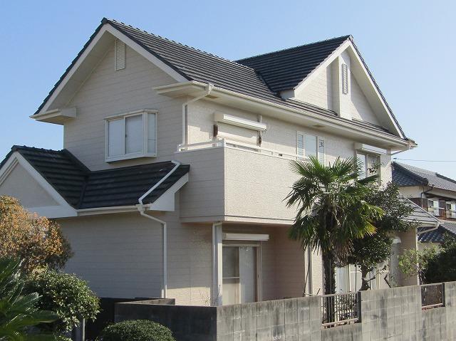 岡山市邑久町 屋根外壁塗装をアウトレットプランで安く!