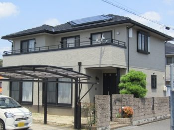 早島町 耐久性・耐候性の高い無機塗料で外壁塗り替え!